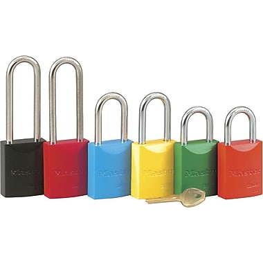 Master Lock® 6835 Safety Series™ Pro Series® High Visibility Aluminum Padlock, 5 Pin, Red
