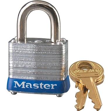 Master Lock® 7LJKD Laminated Steel Pin Tumbler Padlock, 4 Pin, 6/Pack