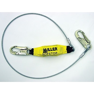 Honeywell Miller® Steel Wire Rope Lanyard With SofStop® Shock Absorber, 6'