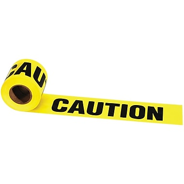 Irwin® Strait-line® 3in.(W) x 1000'(L) x 2 mil(T) Caution Barrier Tape, Yellow/Black