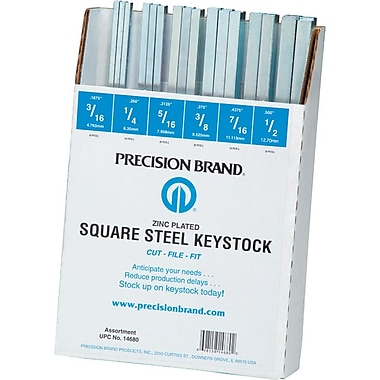 Precision Brand® Square Low Carbon Steel Keystock, 12