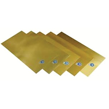 Precision Brand® Plain Brass Shim Stock Flat Sheet Assortment, 0.001 - 0.015