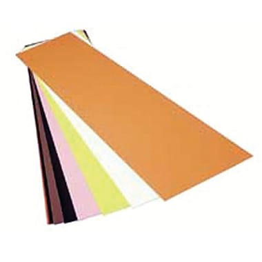 Precision Brand® Plain Plastic Color Coded Shim Flat Sheet, 5in. x 20in.