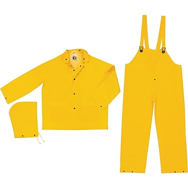 River City FR2003 Classic 3-Piece Flame Resistant Rainsuit, Yellow, Large