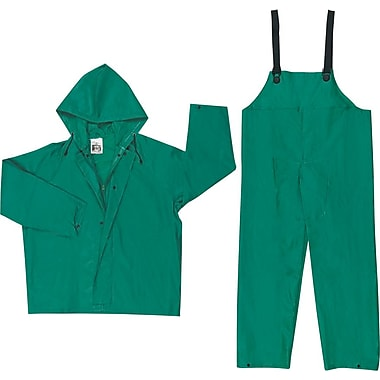 River City 3882 Dominator 2-Piece Rainsuit, Green, XL