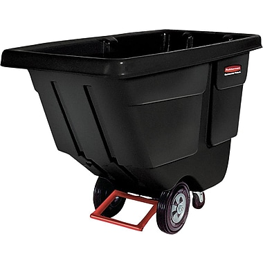 Rubbermaid® Black Plastic Rotational Molded Tilt Truck, 450 lbs.