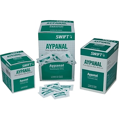 Swift First Aid 161583 Aypanal Non-Aspirin Pain Relievers, 250/Box