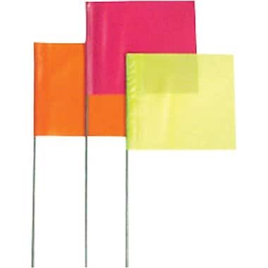 Presco 18in.(L) x 3in.(W) x 2in.(H) Stake Flag, Yellow