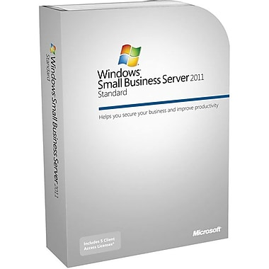 HP® W2011 Microsoft Windows Small Business Server, 2011 Standard License 5 User CAL