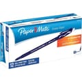Paper Mate Erasermate® Pens, Medium Point, Blue, Dozen
