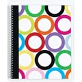 Carolina Pad Sugarland 1-Subject Notebook, Circles Design, 10-1/2in. x 8-1/2in.