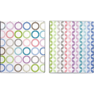 1in. Pattern Play Vinyl Binder, Striped Design
