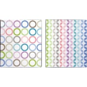 1 Pattern Play Vinyl Binder, Striped Design