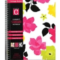 Carolina Pad Fashionista 1-Subject Notebook, Floral Design, 10-1/2in. x 8-1/2in.