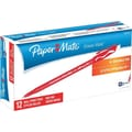 Paper Mate Erasermate® Pens, Medium Point, Red, Dozen