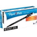 Paper Mate Erasermate® Pens, Medium Point, Black, Dozen