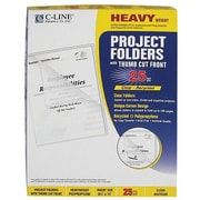 C-Line® Project Folder Jacket, Clear, 25/Bx