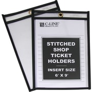 "C-Line® Plastic Shop Ticket Holder, 6"" x 9"""