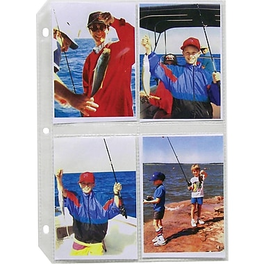 C-Line Top-Loading Clear 3-1/2in. x 5in. Photo Holders