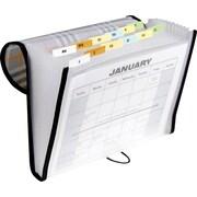 C-Line® 13 Pocket Expanding File, Letter Size, Plaid