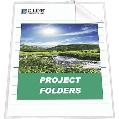 C-Line® Clear Project Folders, Letter Size, 25/Box