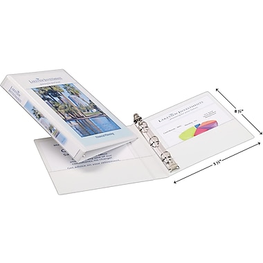 1/2in. Avery® 5-1/2in. x 8-1/2in. Mini View Binder with Round Rings, White