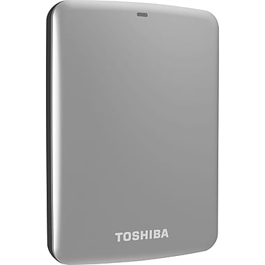 Toshiba Canvio® Connect 500GB Portable Hard Drive (Silver)