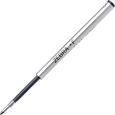 Zebra® - Recharges pour stylo à bille, pointe fine, noir, paq./2