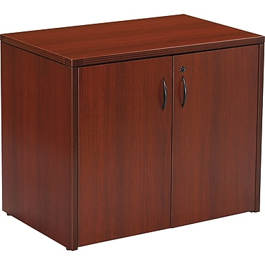 Office Star Napa Collection 2-Door Storage Cabinet, Mahogany