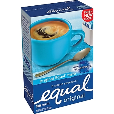 Equal® Sweetener Packets, 100/Box