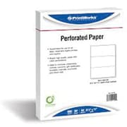 Printworks® Professional 8 1/2 x 11 20 lbs. Perforated at 4 1/2 Punched Paper, White, 2500/Case