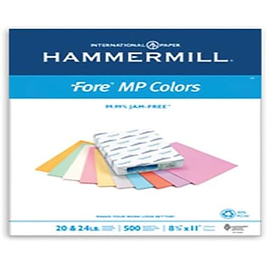 IP Hammermill® Fore® MP 30PC 8 1/2in. x 11in. 24 lbs. Colored Copy Paper, Blue, 500/Ream