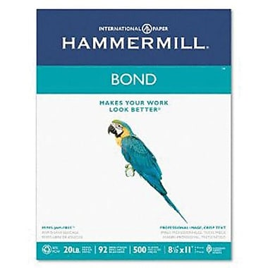 IP Hammermill® 8 1/2in. x 11in. 20 lbs. Multipurpose Bond Paper, White, 5000/Case