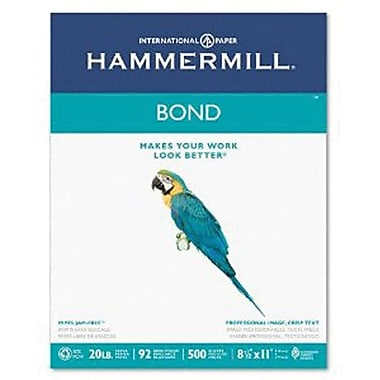 IP Hammermill® 8 1/2in. x 11in. 24 lbs. Multipurpose Bond Paper, White, 5000/Case