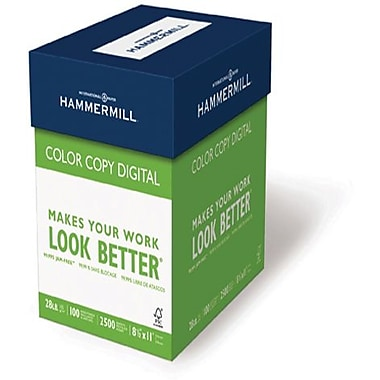Hammermill® 100 lbs. Color Copy Digital Ultra Smooth Photo Cover, 12in. x 18in., White, 750/Case