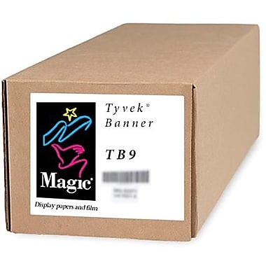 Magiclee/Magic TB9 36in. x 50' 9 mil Tyvek Matte Banner, White, Roll