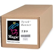 "Magiclee/Magic TB9 36"" x 50' 9 mil Tyvek Matte Banner, White, Roll"