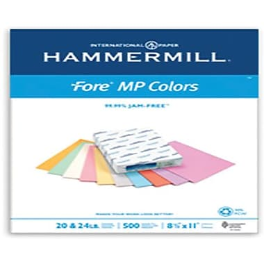 IP Hammermill® Fore® MP 30PC 8 1/2in. x 14in. 20 lbs. Colored Copy Paper, Cream, 5000/Case