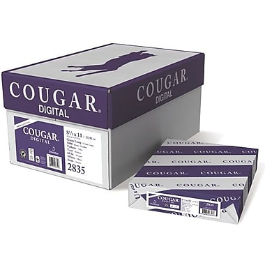 Domtar Cougar® 8 1/2in. x 11in. 60 lbs. Digital Vellum Laser Paper, White, 5000/Case
