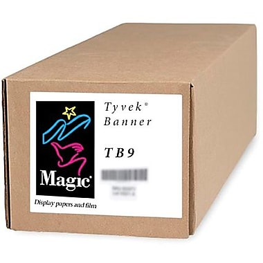 Magiclee/Magic TB9 50in. x 100' 9 mil Tyvek Matte Banner, White, Roll
