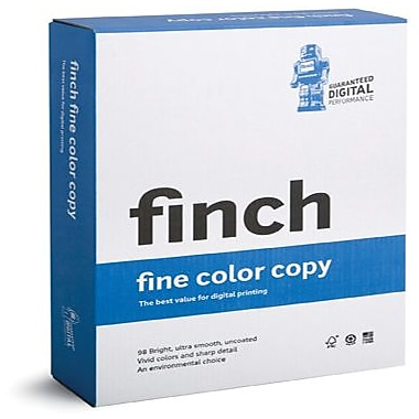 Finch® Fine ID 65 lbs. Color Copy Smooth Cover, 11in. x 17in., Bright White, 1250/Case