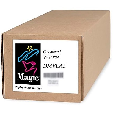 Magiclee/Magic DMVLA5 44in. x 40' Coated Matte Pressure Sensitive Calendered Vinyl, White, Roll