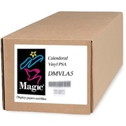 "Magiclee/Magic DMVLA5 44"" x 40' Coated Matte Pressure Sensitive Calendered Vinyl, White, Roll"