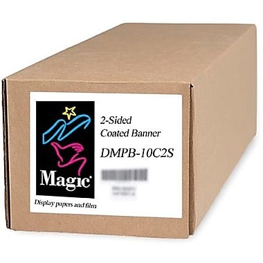 Magiclee/Magic DMPB10-C2S 36in. x 75' 12 mil Polyethylene Matte 2-Side Coated Banner, White, Roll