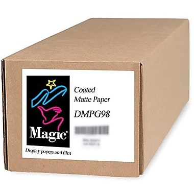 Magiclee/Magic DMPG98 44in. x 300' Coated Matte Presentation Paper, Bright White, Roll