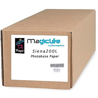 Magiclee/Magic Siena 200L 42in. x 100' Coated Lustre Microporous Photobase Paper, Bright White, Roll
