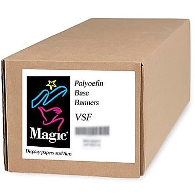 Magiclee/Magic VSF 42in. x 50' 12.5 mil Valeron polyolefin Matte Banner, Bright White, Roll