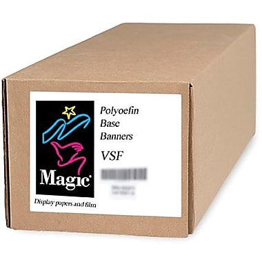 Magiclee/Magic VSF 24in. x 50' 12.5 mil Valeron polyolefin Matte Banner, Bright White, Roll