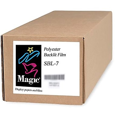 Magiclee/Magic SBL-7 36in. x 100' 7 mil Polyester Matte Backlit Film, Bright White, Roll