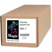 "Magiclee/Magic SBL-7 36"" x 100' 7 mil Polyester Matte Backlit Film, Bright White, Roll"